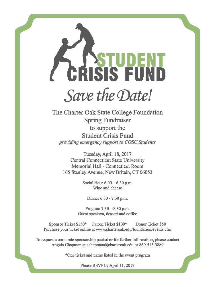 Spring Fundraiser to support the Student Crisis Fund providing emergency support to COSC Students
