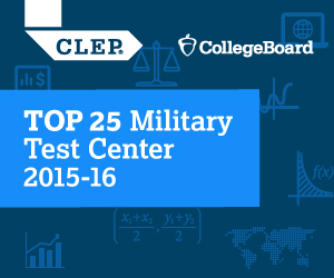 Charter Oak State College is a top 25 CLEP military test center
