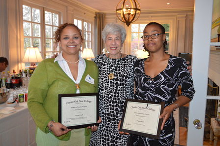 Dr. Merle Harris with award winners