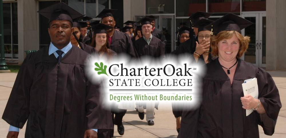 Charter Oak State College grads marching in