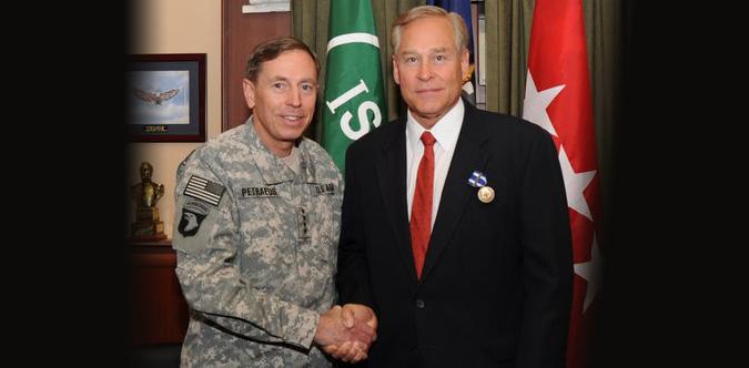 David Matthews with General David Petraeus