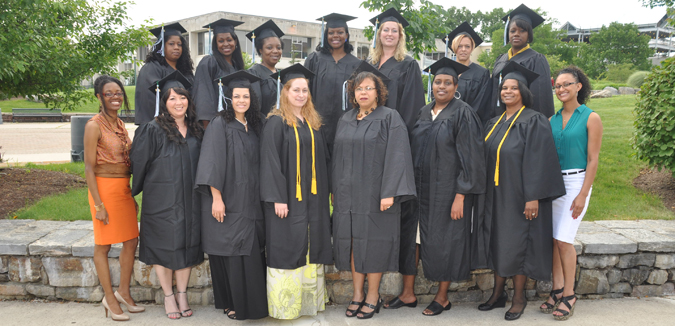 WIT Graduates – June 2012 – with Delores Bell, WIT Coordinator (far left) & Janice Silva, WIT Assistant (far right)