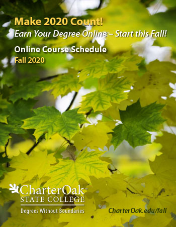 Charter Oak State College course brochure cover